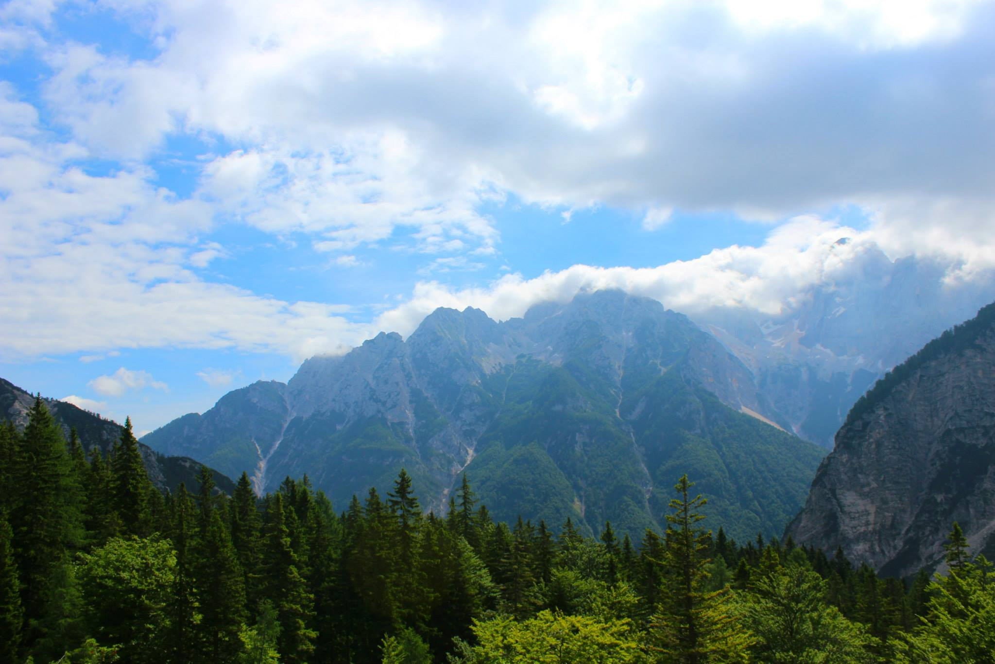 Driving though the Julian Alps