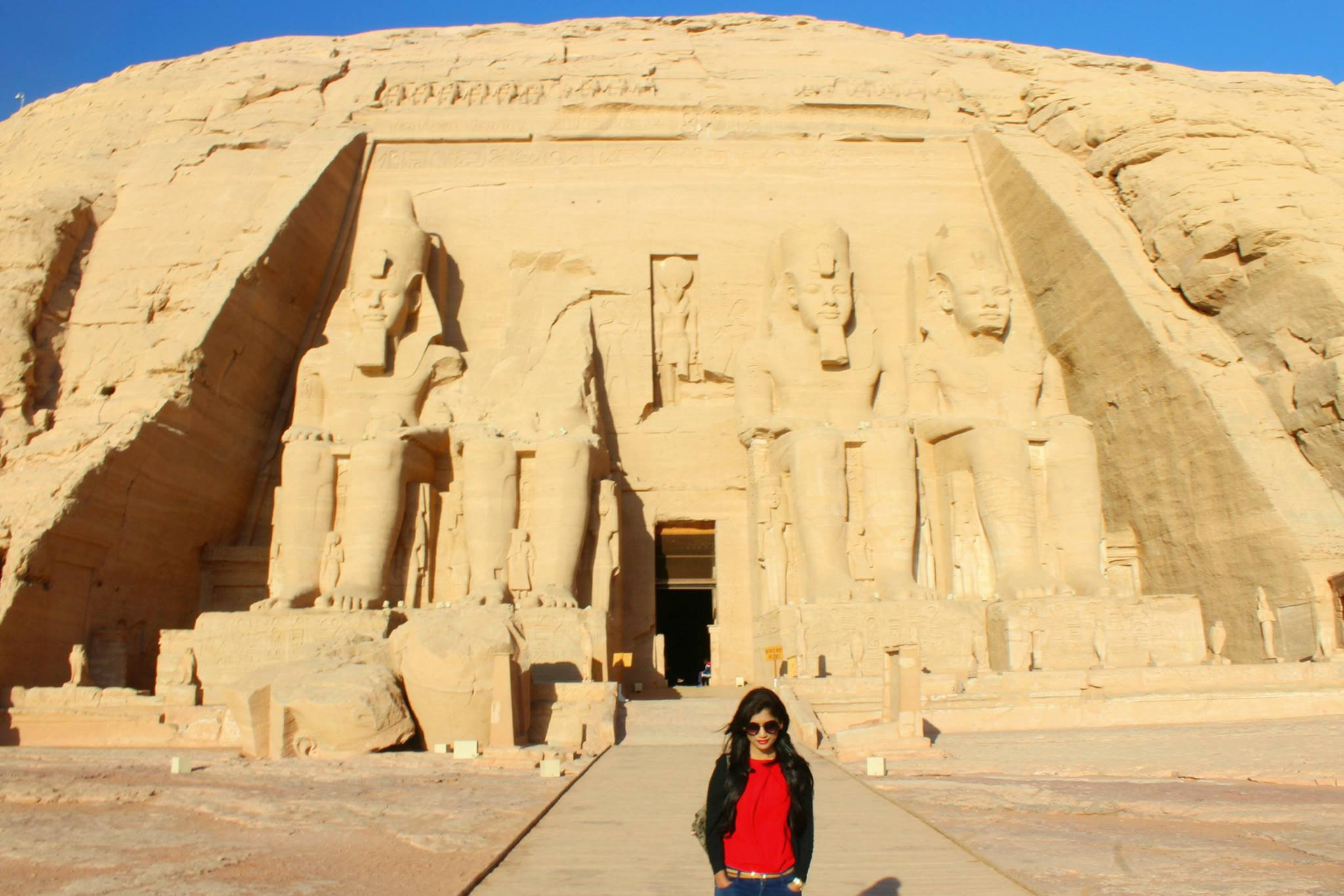 Stand in awe of Ramses II at Abu Simbel